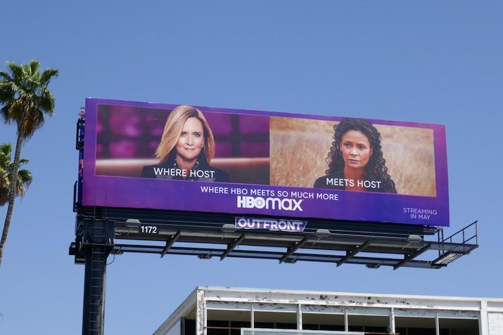HBO Max Where Host meets Host billboard