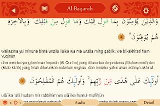aplikasi al qur'an terbaik android tulisan Arab, latin ...