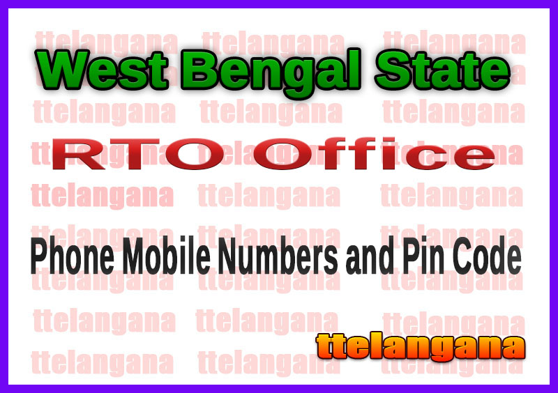 West Bengal RTO Office Phone Numbers