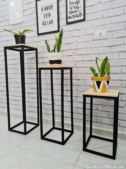 decoraçao com trio de mesas