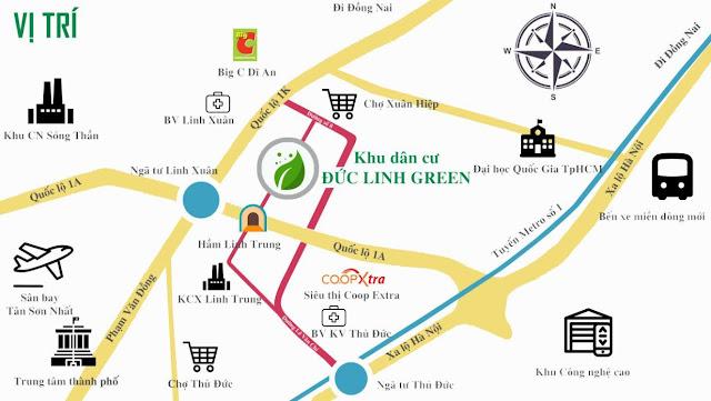 Dự án Đức Linh Green - sơ đồ vị trí