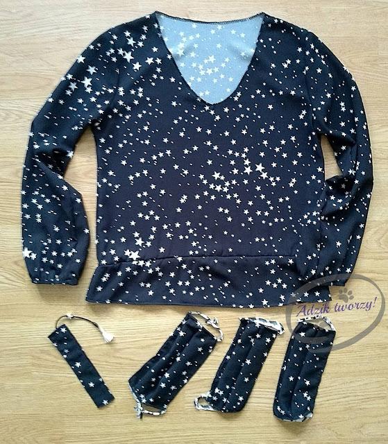 przeróbka za krótkiej sukienki na bluzkę DIY