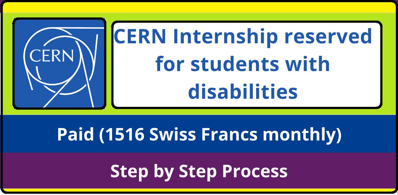 تدريب CERN للطلاب ذوي الإعاقة في سويسرا