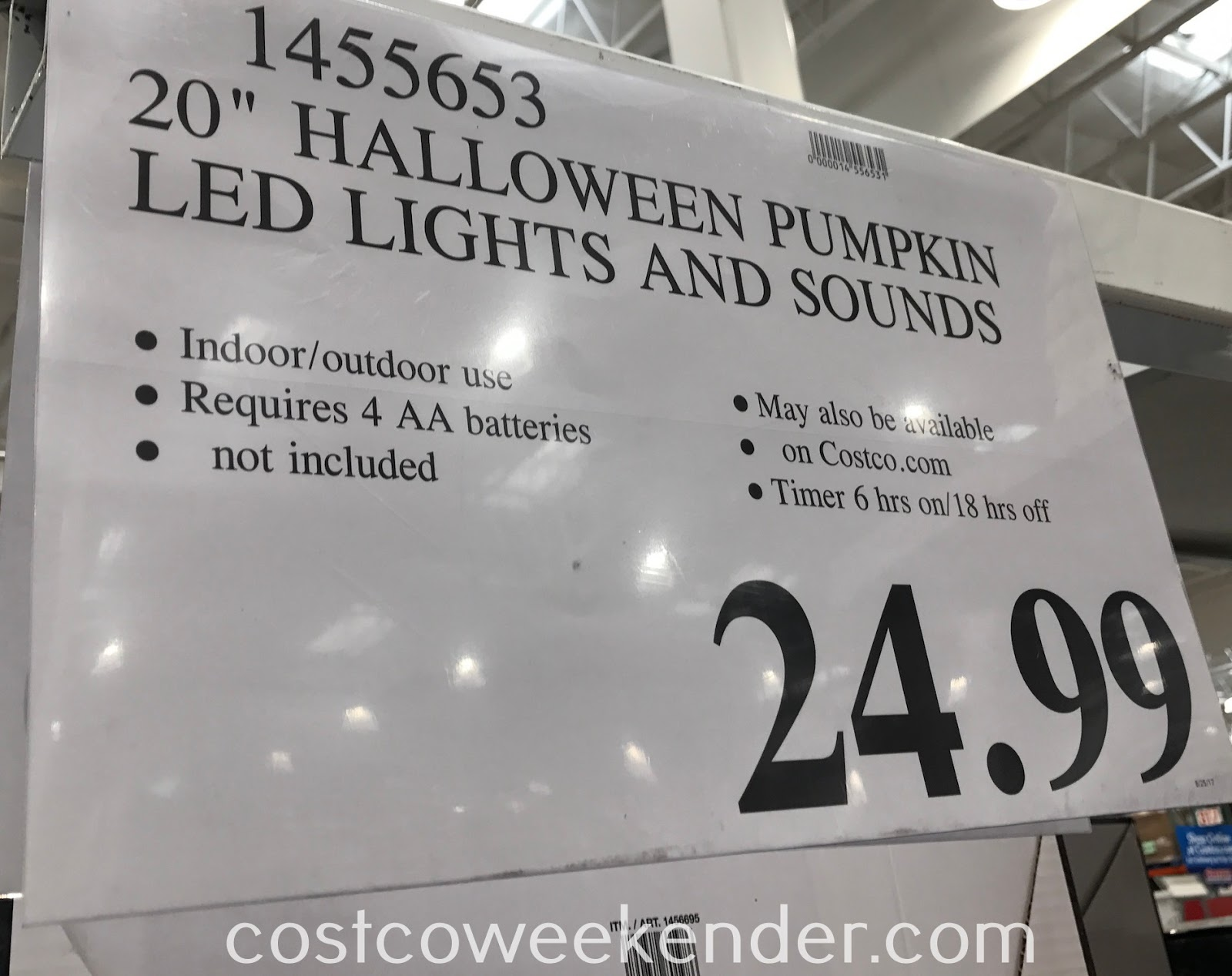 Deal for the Halloween Pumpkin with Yellow LED Flickering Lights at Costco