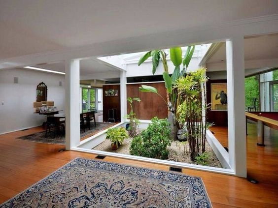 Hasil gambar untuk Desain Interior Rumah: Pencahayaan Taman dalam Ruangan