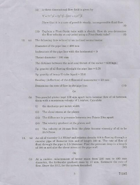 CE2202 Mechanics of Fluids April May 2015 Question Paper