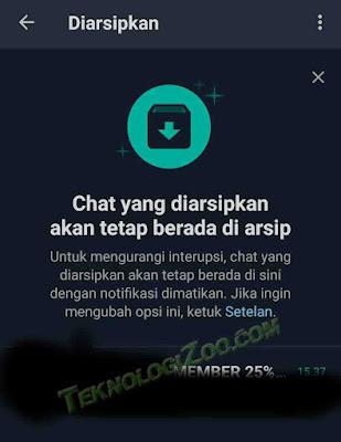 cara mengembalikan arsip chat wa