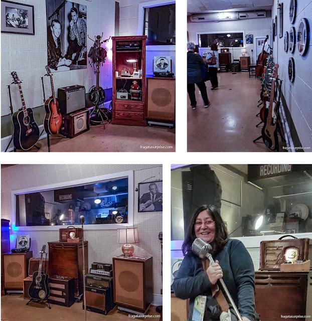 Detalhes do interior do Sun Studio, em Memphis