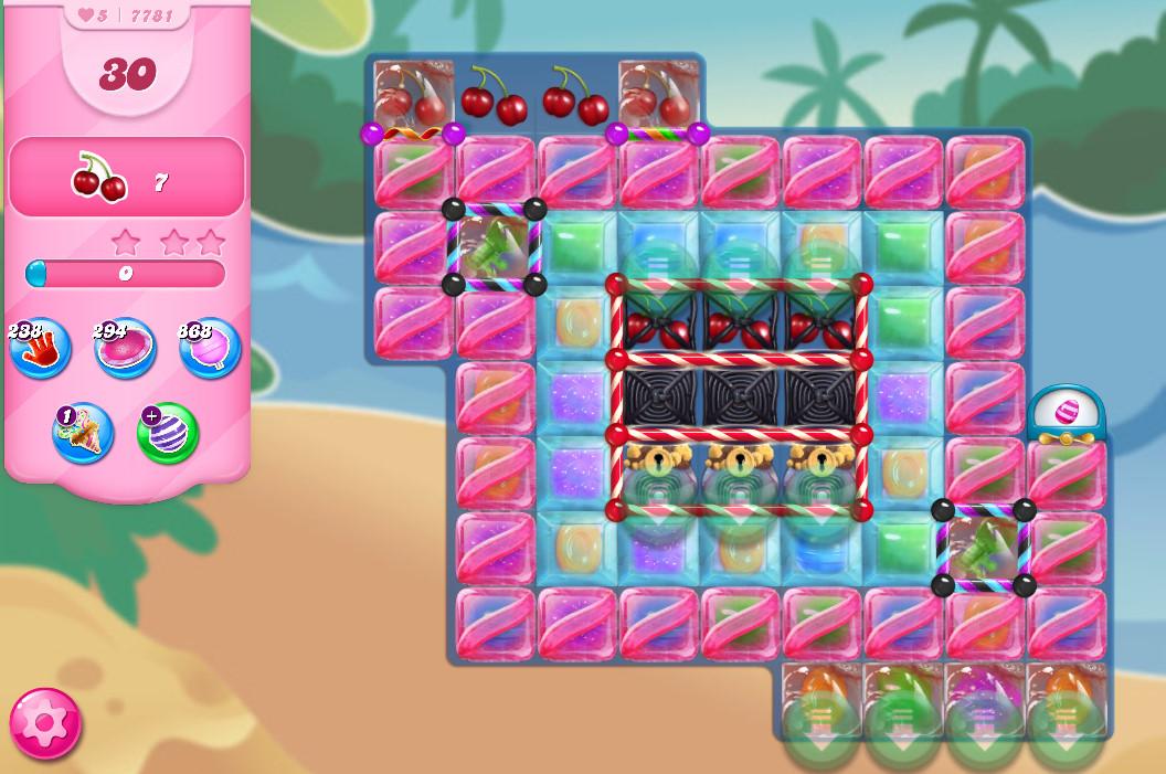 Candy Crush Saga level 7781