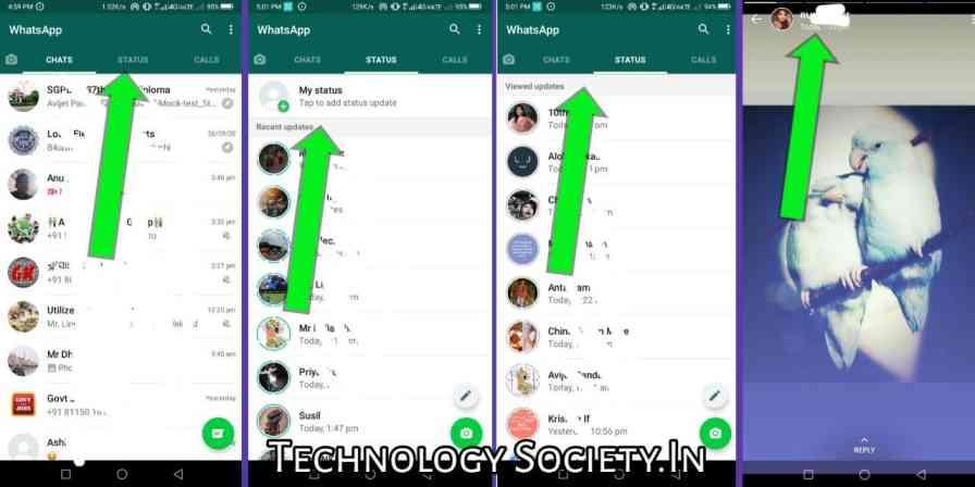 Use WhatsApp Status