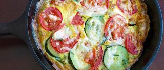 Fritada de tomate e abobrinha light