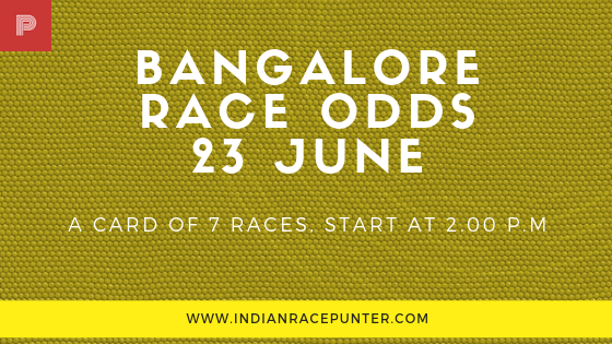 Bangalore Race Odds 23 June, trackeagle, racingpulse