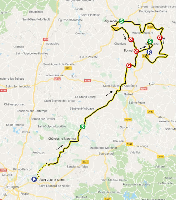 Route tour de france