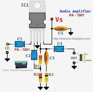 TDA2002 Audio amplifier 8 watt circuit