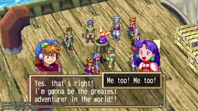 In Grandia HD Remaster, the action is displayed in isometric view.