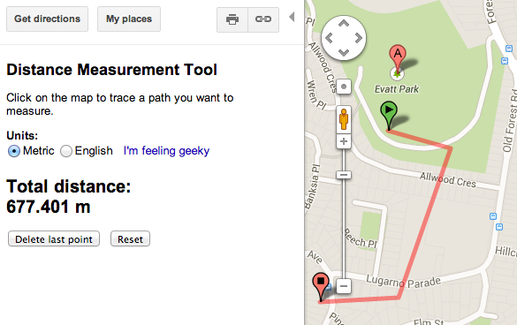 Google Operating System Distance Measurement In The New Google Maps