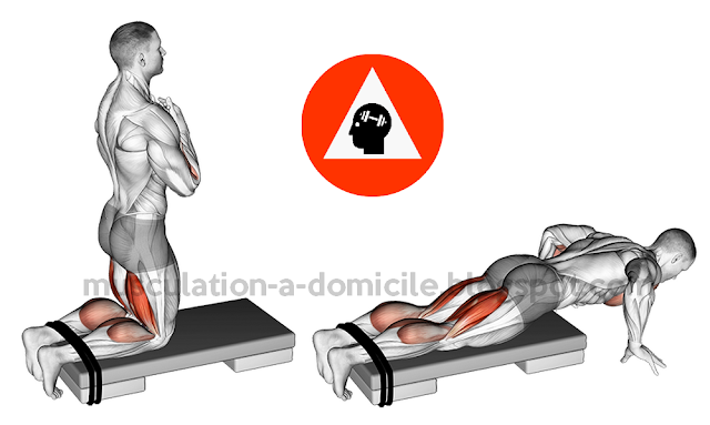 exercice musculation domicile glute ham raise ischios jambier