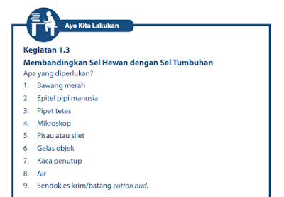 Kunci Jawaban Buku Paket IPA kelas 7 Semester 2 Halaman 7 8 Kurikulum 2013