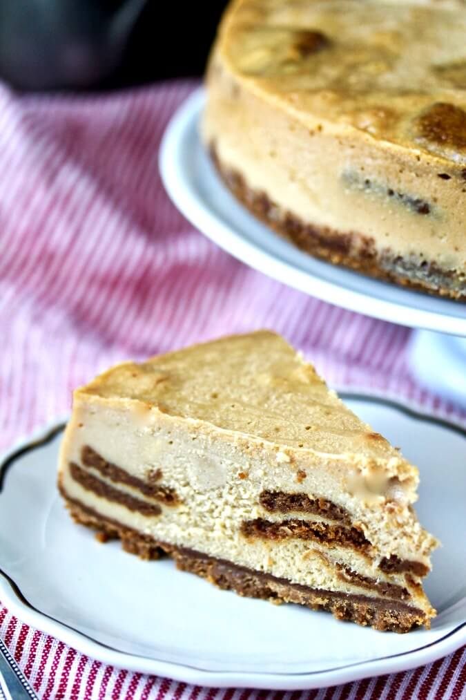 Biscoff Cheesecake slice