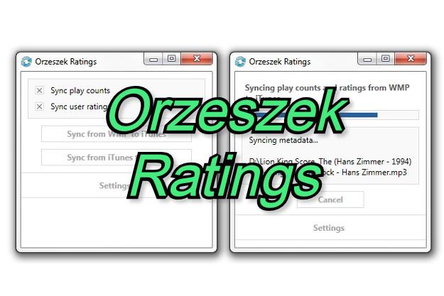 Orzeszek Ratings - Πρόγραμμα συγχρονισμού βαθμολογιών μεταξύ Windows Media Player και iTunes