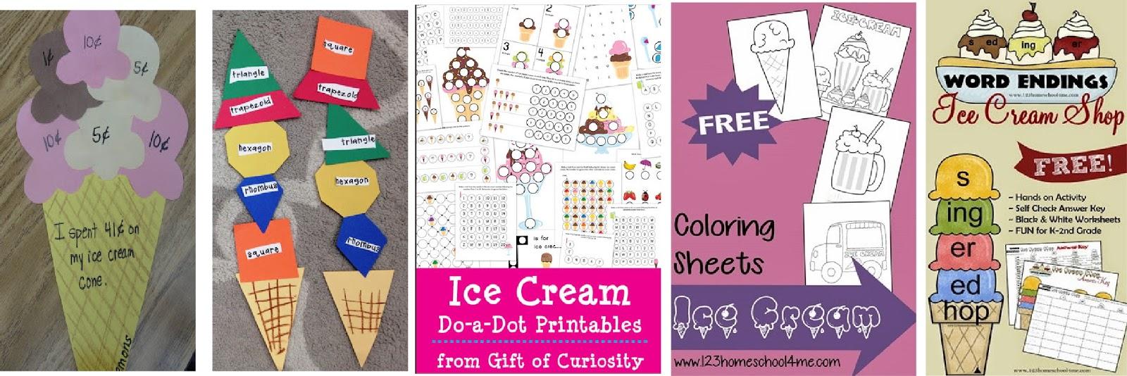 33 Ice Cream Crafts and Kids Activities