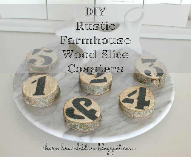 wood slice coaster with numbers