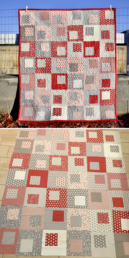 Modern Layer Cake Square in a Square Quilt Along - Tutorial