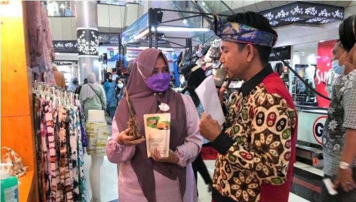 Berbagai Produk Unggulan IKM Tanjungpinang Dipamerkan  Pada Pameran PPI 2021