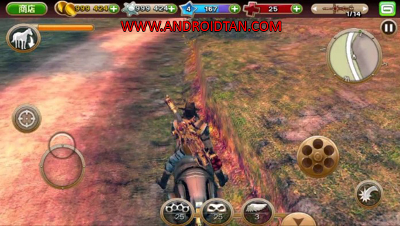 Download Six Guns Mod Apk Data Unlimited Money Terbaru