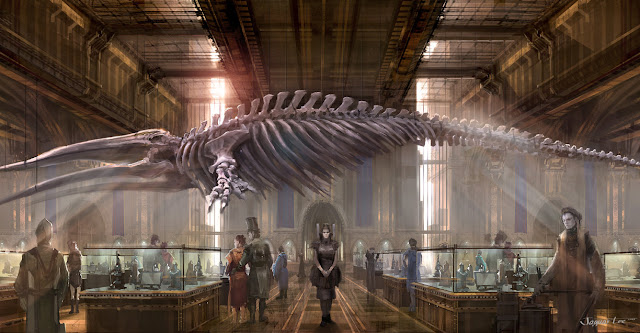 the whale skeleton in the library of london city