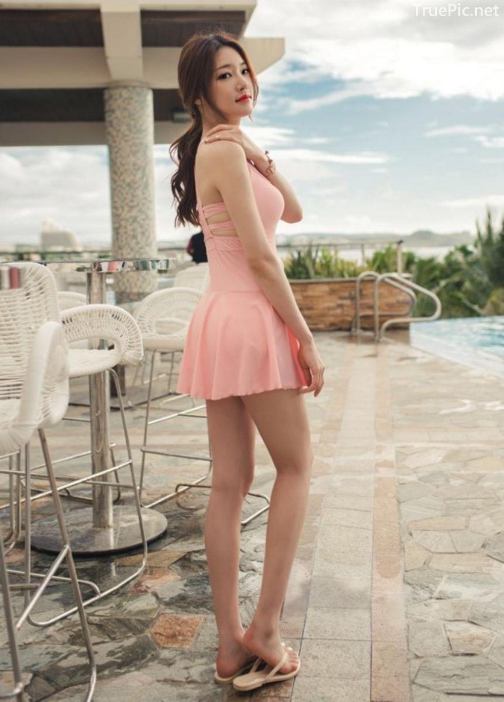 Korean model fashion - Park Jeong Yoon - Amanda One Piece Swimsuit - Picture 6