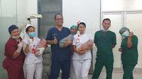 Warga Parmonangan Melahirkan Bayi Kembar 3 dengan Lancar di RSUD Tarutung