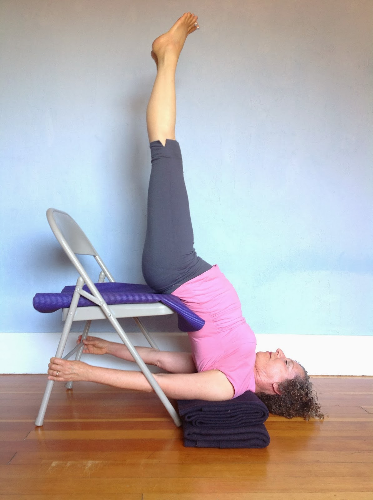 Yoga Chair Pose Guitar Chairs And Stools Featured Shoulderstand For Healthy Aging