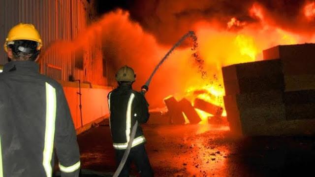 حريق بمنطقة المخازن داخل ميناء الإسكندرية