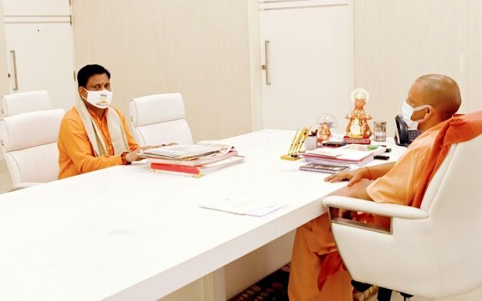 राजीव मिश्रा ने मुख्यमंत्री से की शिष्टाचार भेंट