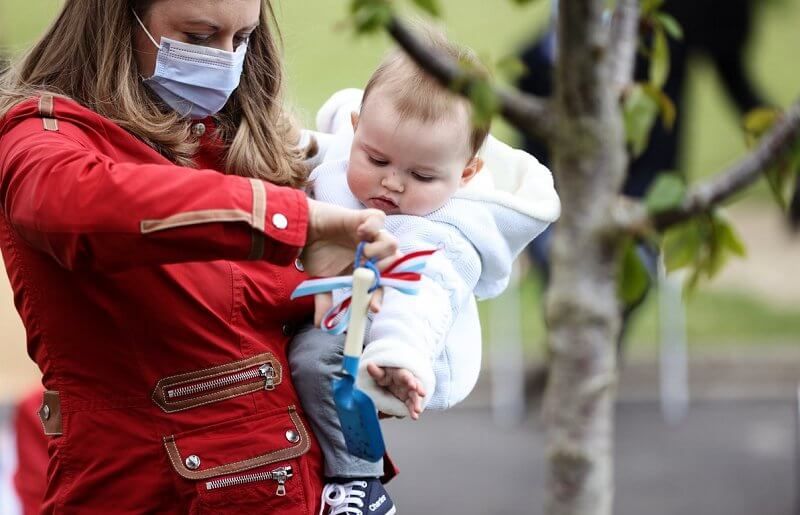 Prince Charles celebrate his first birthday. Hereditary Grand Duchess Stephanie. Princess Stephanie wore a red jacket