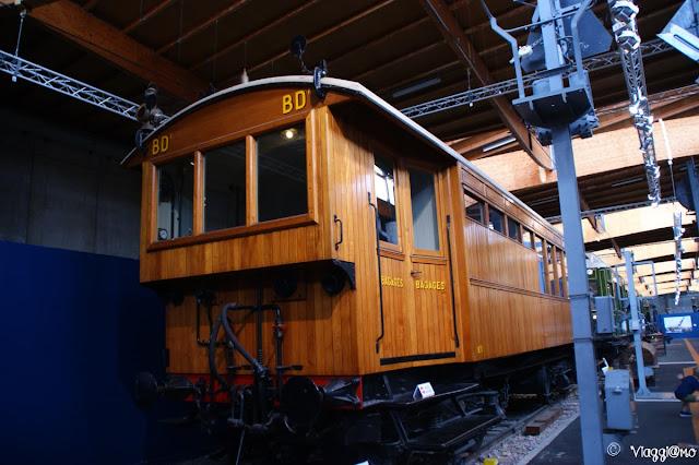 Una delle carrozze esposte al Museo di Mulhouse