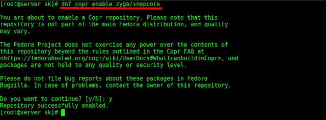 Como instalar os pacotes Snap no Fedora GNU/Linux!