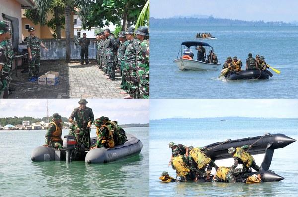 Kaskormar Tinjau Latihan RDO Yontaifib-2 Marinir