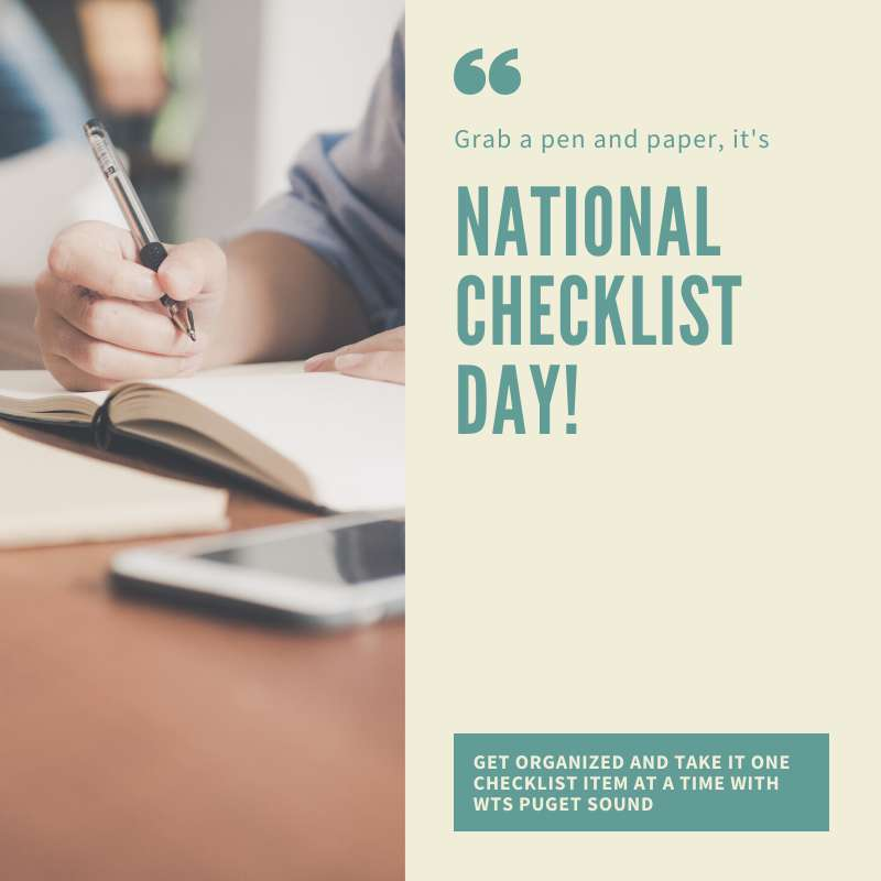 National Checklist Day Wishes Beautiful Image