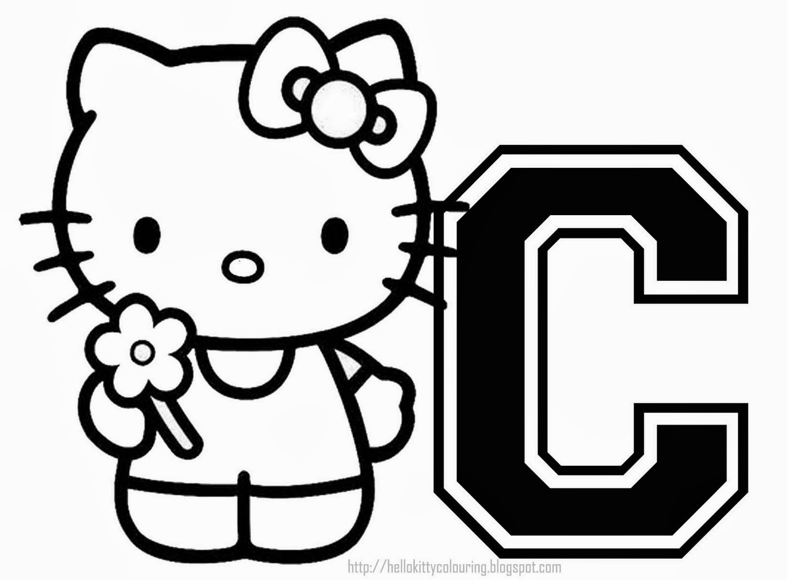 Alfabeto de Hello Kitty para Colorear. | Oh my Alfabetos!