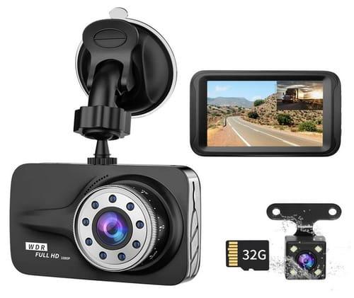XUSHIDZ Car Camera Front and Rear Dual Lens Dash Cam