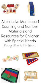 Alternative Montessori Counting and Number Materials and Resources for Children with Special Needs