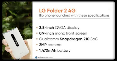 lg folder 2 flip phone launch in india
