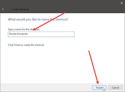 cara membuat shortcut link internet di komputer
