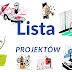 Lista zgłoszonych projektów (aktualizowana)