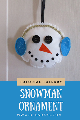 Homemade Fabric Snowman Christmas Tree Ornament Sewing Project