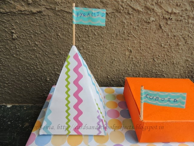 cards crafts kids projects how to make a pyramid school project