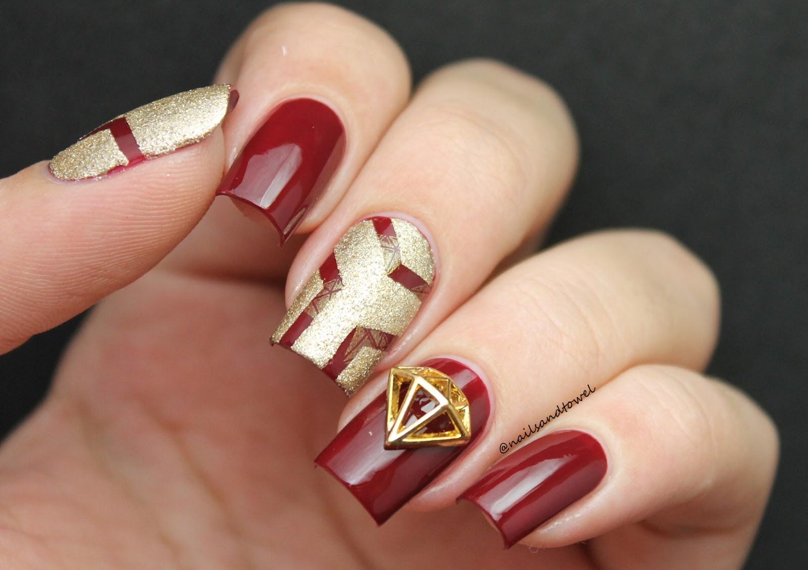 My Nail Art Journal: Hidden Diamond.. Or Iron Man Nails?? - \