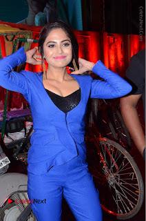 Actress Naina Ganguly Stills in Blue Dress at RGV Shiva to Vangaveeti Event  0009.JPG